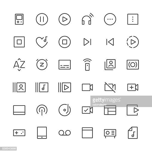 Audio Visual icons set 4 | Thin Line series