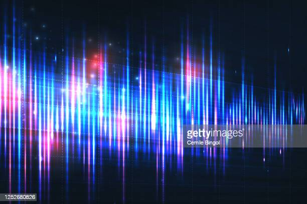 stockillustraties, clipart, cartoons en iconen met achtergrond audiogolven vector - oscilloscoop