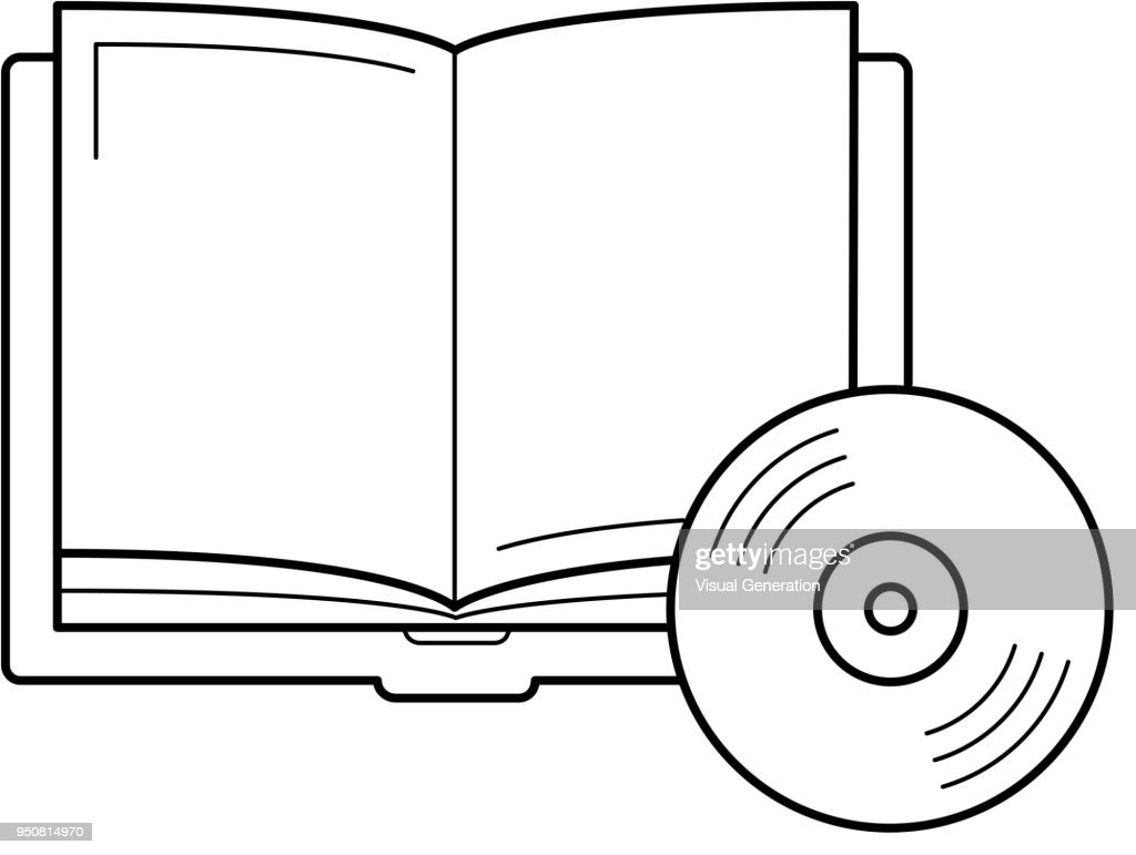 Audiobook vector line icon