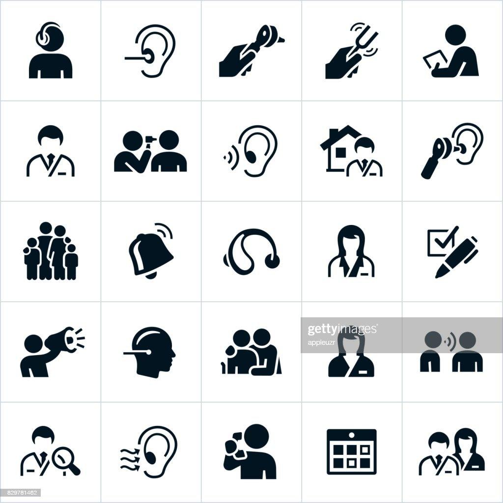 聴覚や聴覚のアイコン : ストックイラストレーション
