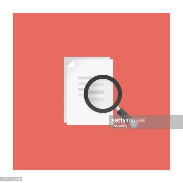 wirtschaftsprüfung-symbol - papierkram stock-grafiken, -clipart, -cartoons und -symbole