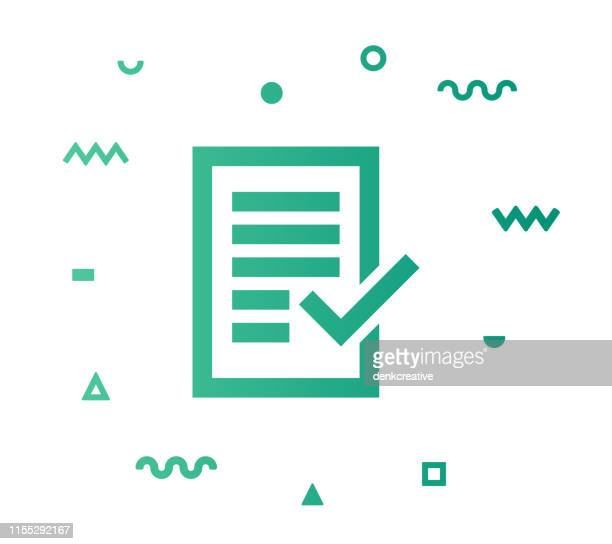 auditor report line style icon design - representing stock illustrations