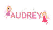 Audrey female name with cute fairy tale