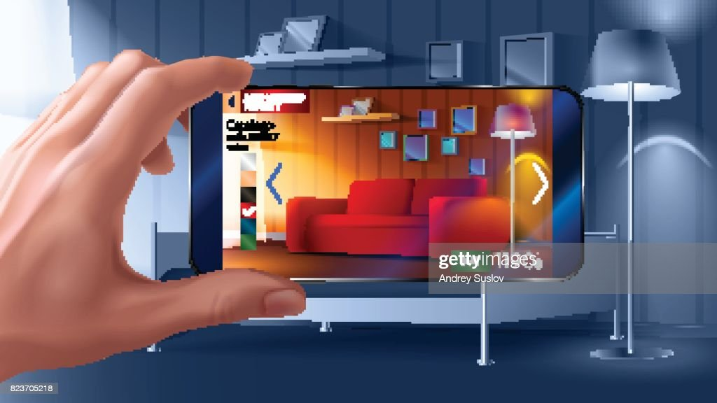 Augmented reality application of smartphone