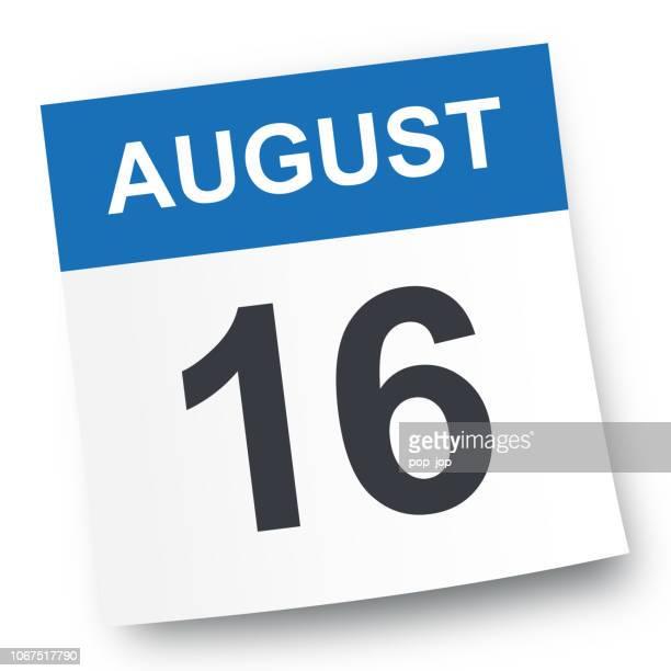 August 16 - Calendar Icon
