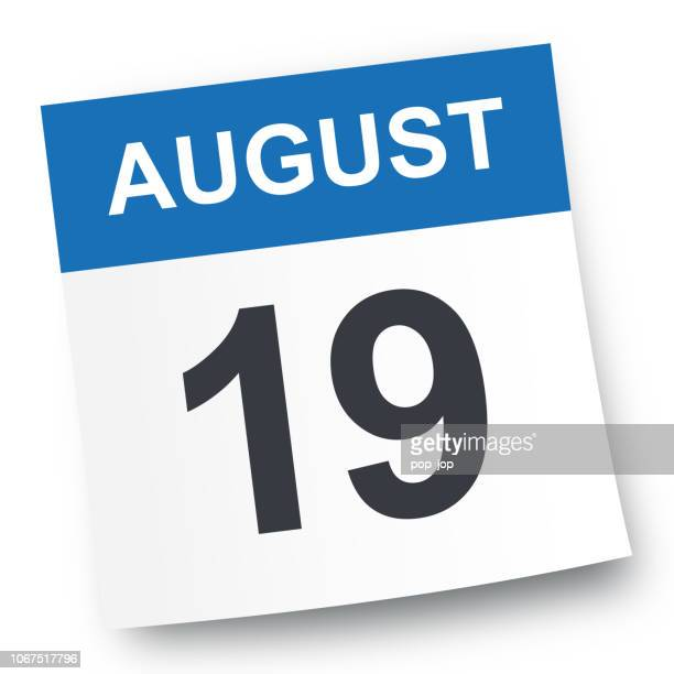 August 19 - Calendar Icon