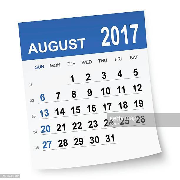 Agosto de 2017 calendário