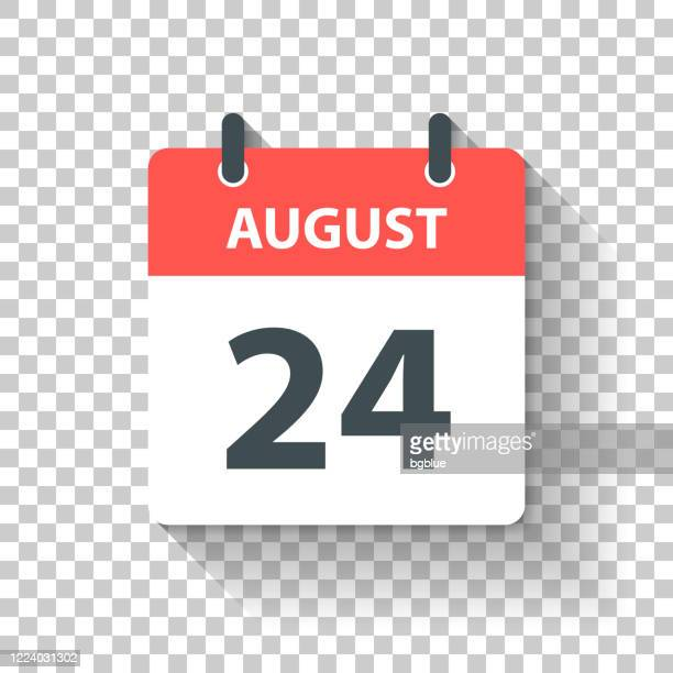 august 24 - daily calendar icon in flat design style - august stock illustrations
