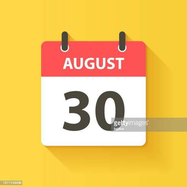 8月30日 - フラットなデザインスタイルで毎日カレンダーアイコン - 数字の30点のイラスト素材/クリップアート素材/マンガ素材/アイコン素材