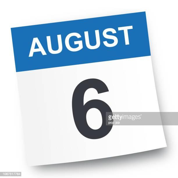 6. August: Kalendersymbol