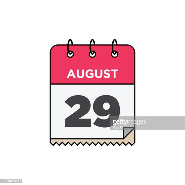 august calendar icon stock illustration - august stock illustrations
