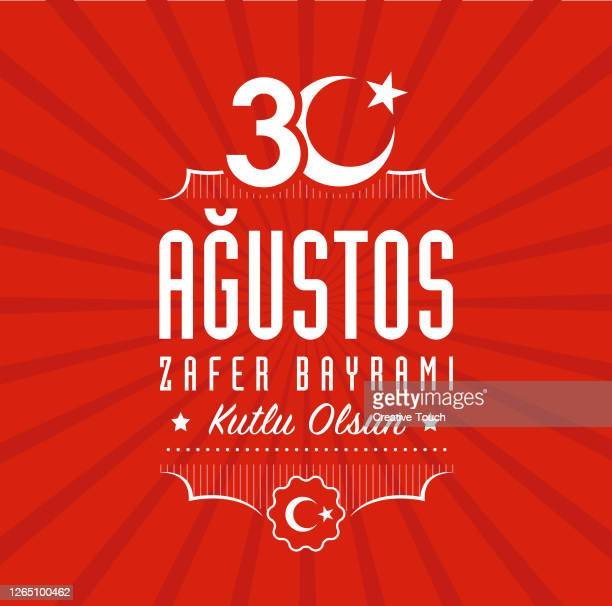 30 august, victory day turkey - august stock illustrations