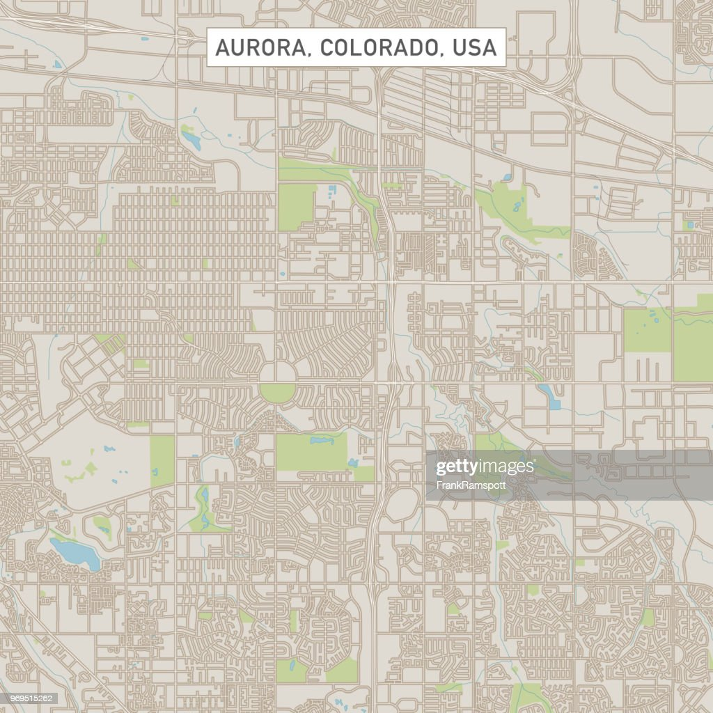 Aurora Colorado Us City Street Map stock illustration ...