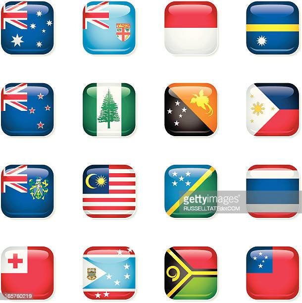 Australasia Icon Flags