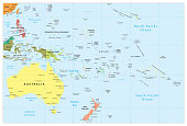 Australia and Oceania detailed political map