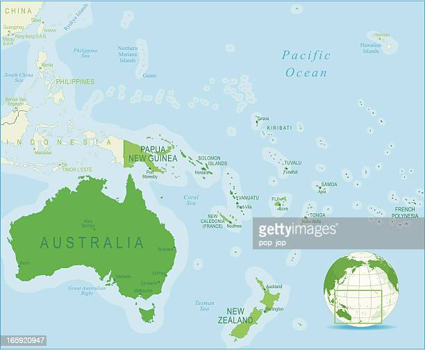 Pacific Islands Stock Illustrations And Cartoons Getty Images - Us pacific islands map
