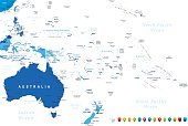 Australia and Oceania Map