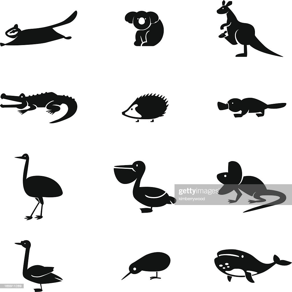 Australia Animal Icon Set