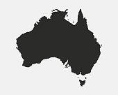 Australia blank map. Australian background. Map of Australia isolated on white background. Vector illustration