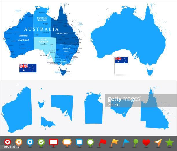 29 - australia - blue and pieces 10 - new south wales stock illustrations