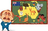 Australia Cartoon maps
