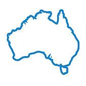 australia country map icon