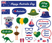 Australia Day photo booth props and design elements