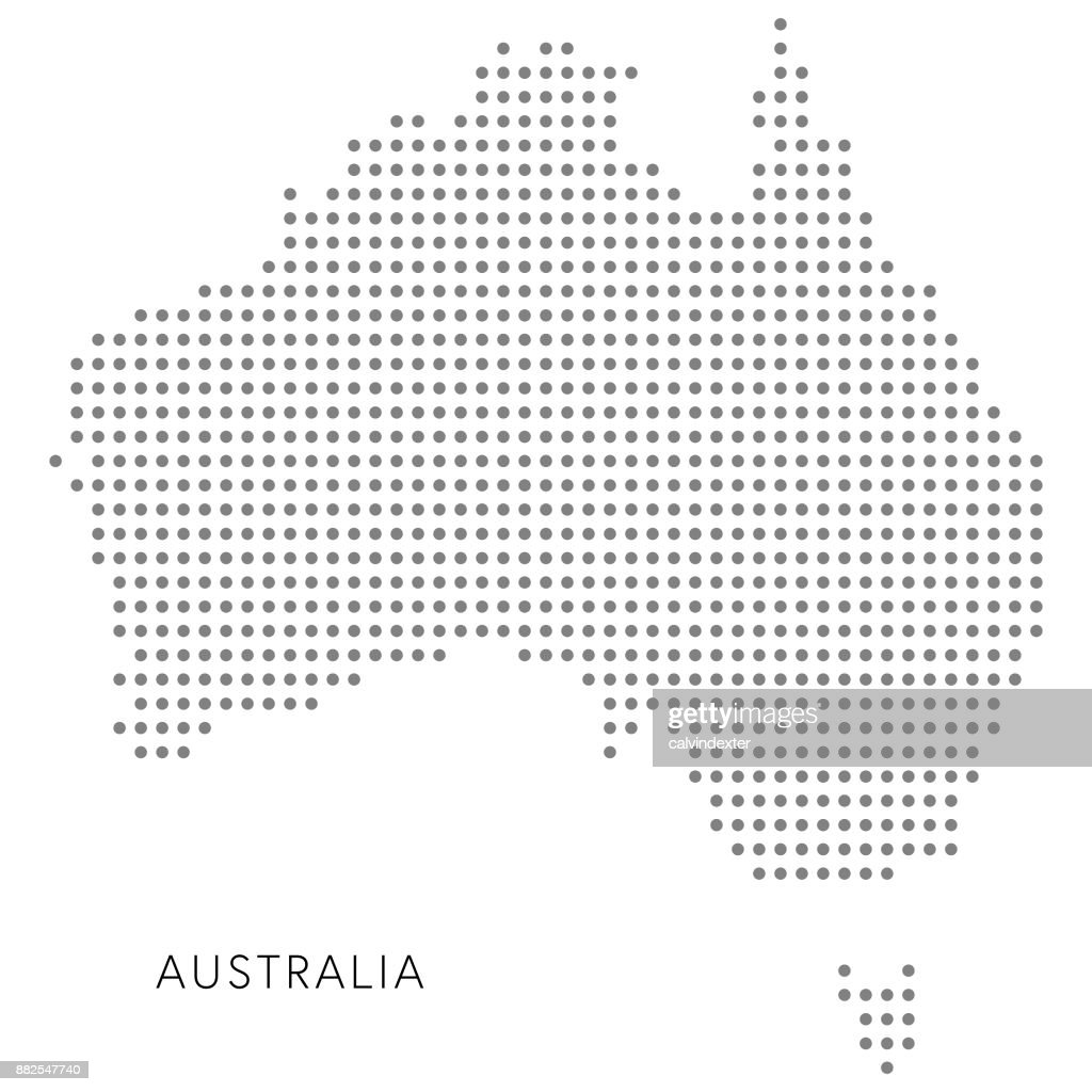Australia Dotted Map Vector Art | Getty Images