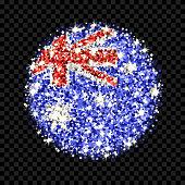 Australia flag sparkling badge