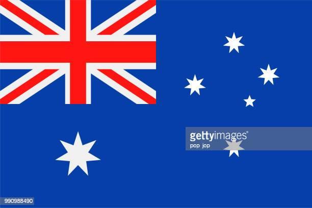 australia - flag vector flat icon - australian flag stock illustrations