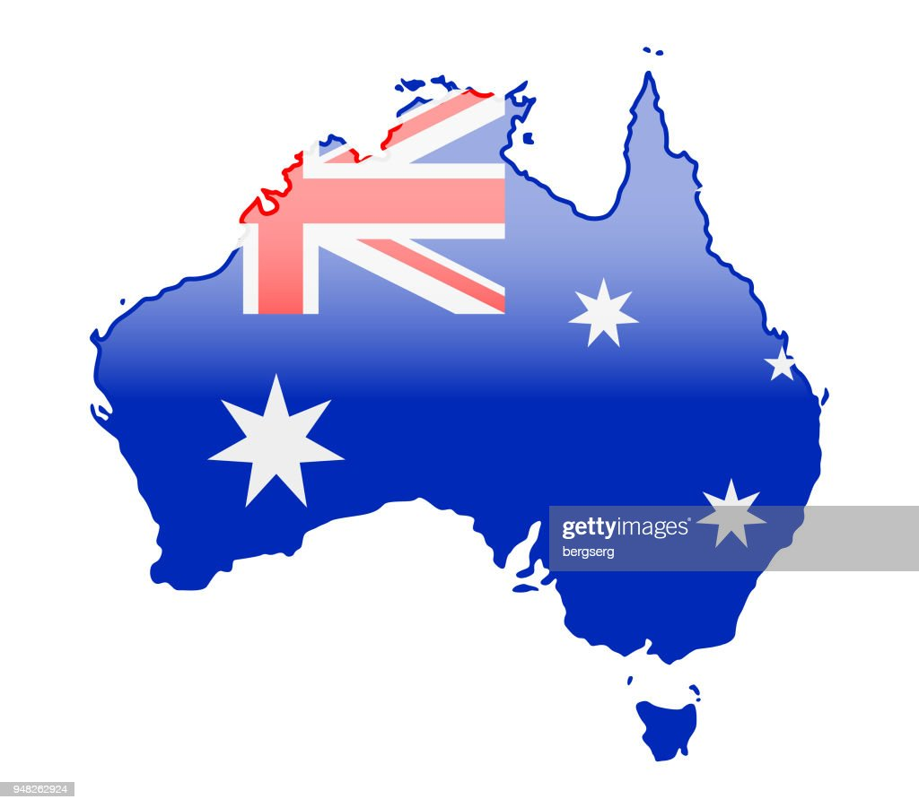 Australia Map Vector.Australia Glossy Map Vector Illustration Stock Illustration Getty