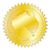 Australia Gold Seal Of Approval Badge