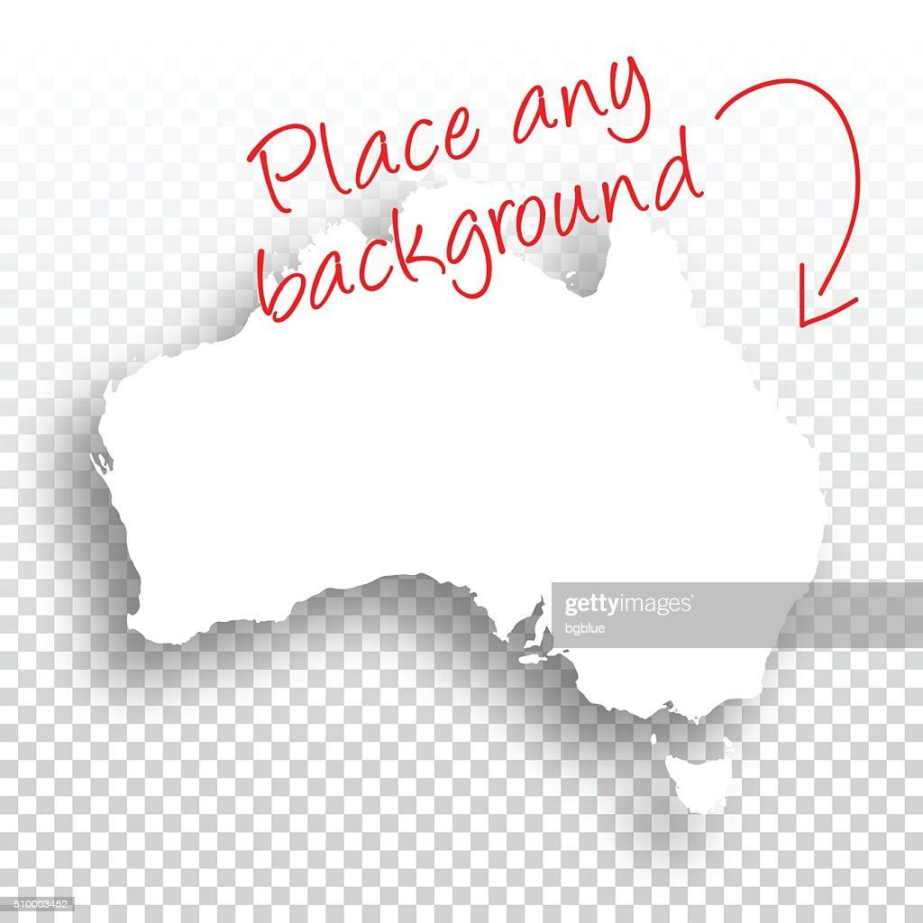 Australia Map for design - Blank Background