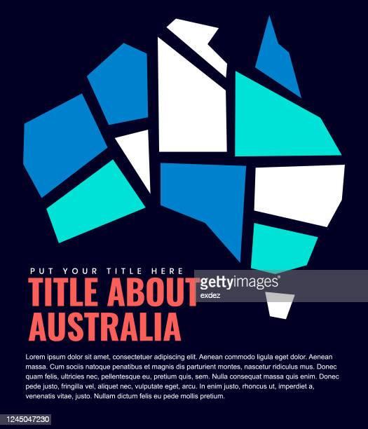 ページデザインのオーストラリア地図 - オーストラレーシア点のイラスト素材/クリップアート素材/マンガ素材/アイコン素材