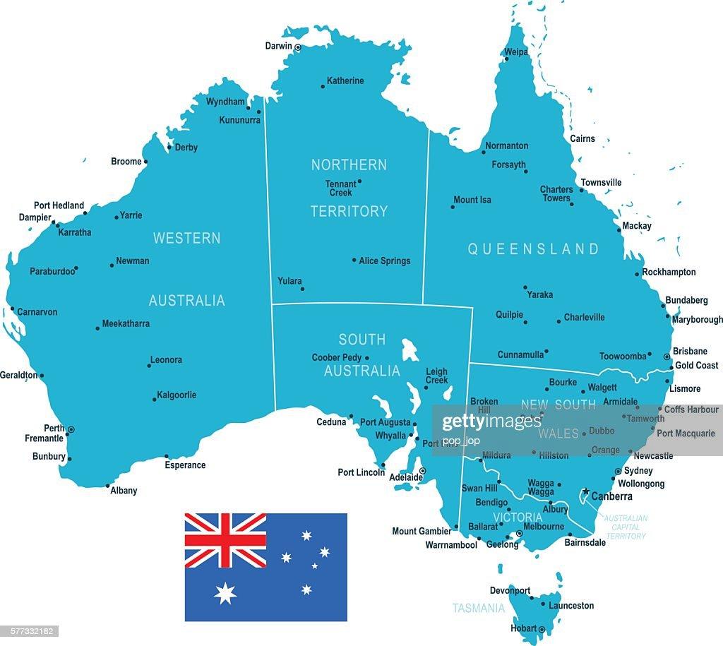 Australia Map Vector Art Getty Images