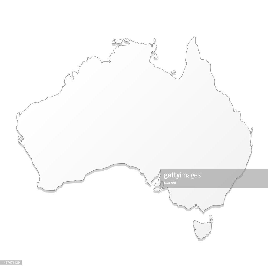 Australia map white