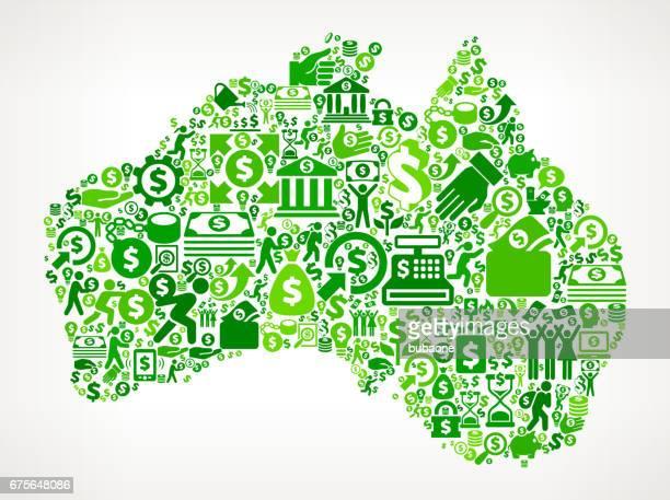 Australia Money and Finance Green Vector Icon Background