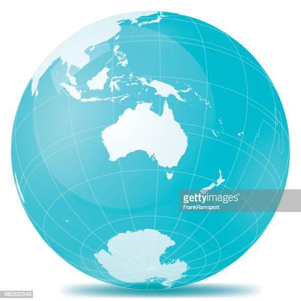 Australien-Erde blau weiss
