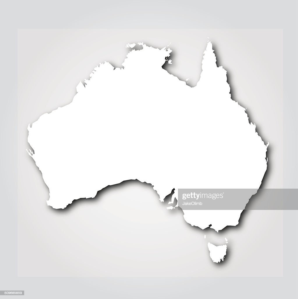 Australia Silhouette White
