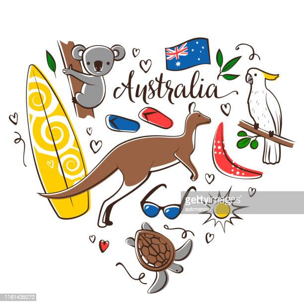 australia symbols - australia stock illustrations