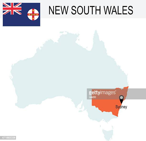 Australia Territories Of New South Wales's map and Flag