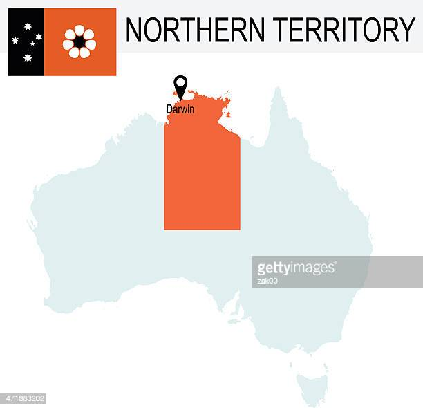 Australia Territories Of Northern Territory's map and Flag