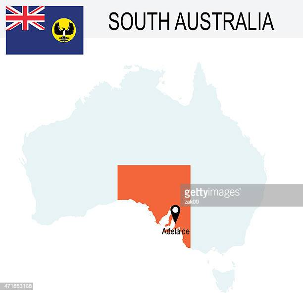 Australia Territories Of South Australia's map and Flag
