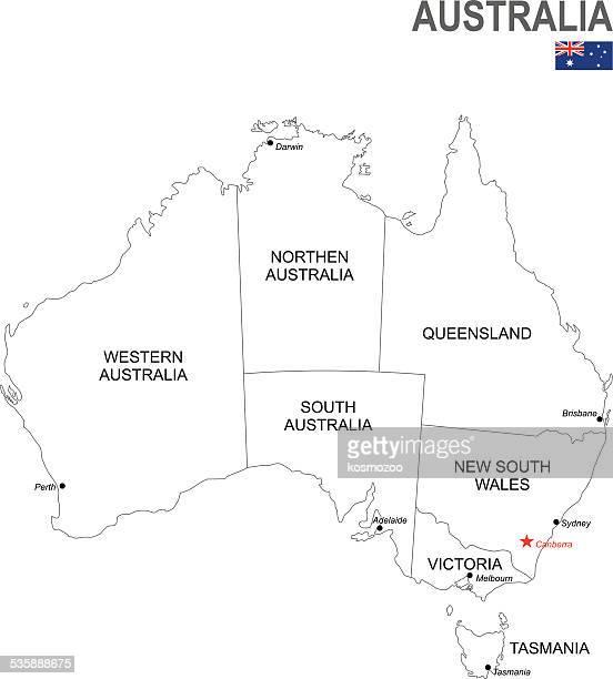 australia - capital cities stock illustrations
