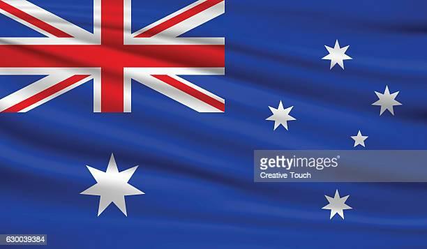 australia - australian flag stock illustrations