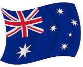 Australia waving flag vector illustration