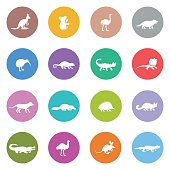 Australian Animal Icon Set