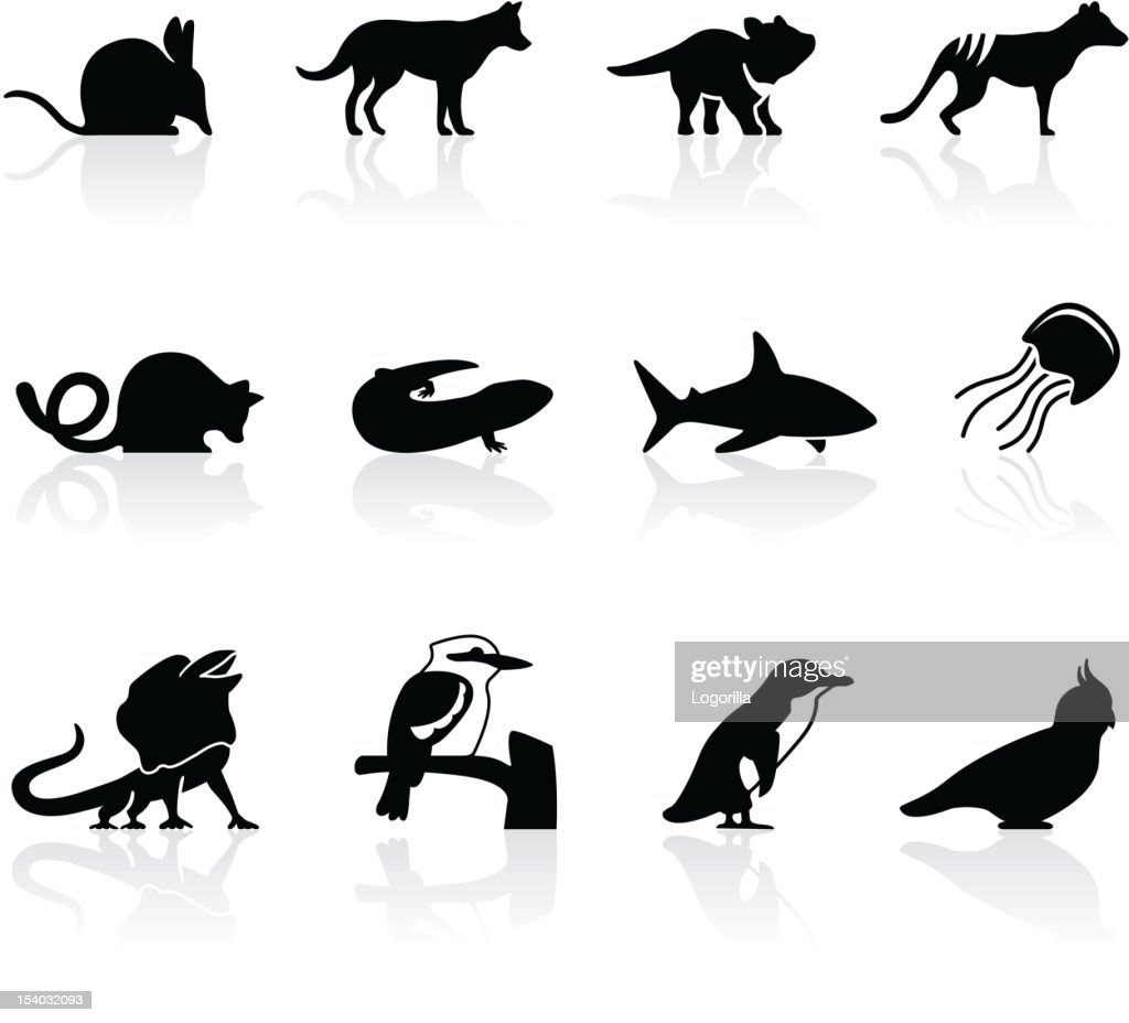 Australian animal icons, set 2