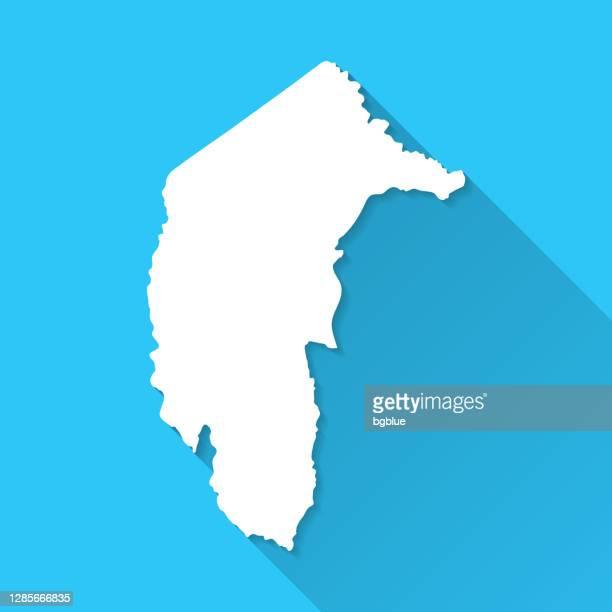 stockillustraties, clipart, cartoons en iconen met australische hoofdgrondgebiedkaart met lange schaduw op blauwe achtergrond - vlak ontwerp - australian capital territory