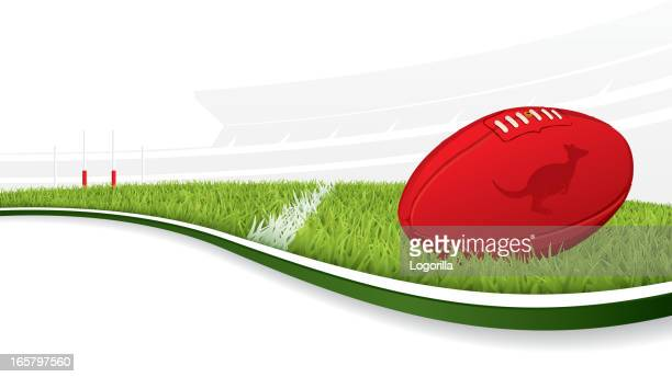 australian football background - afl stock illustrations